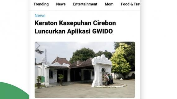 Keraton Kasepuhan Cirebon meluncurkan Aplikasi GWIDO